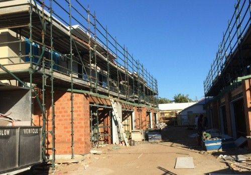 Scaffolding and Brickwork for Polo Construction, Scarborough, Queensland